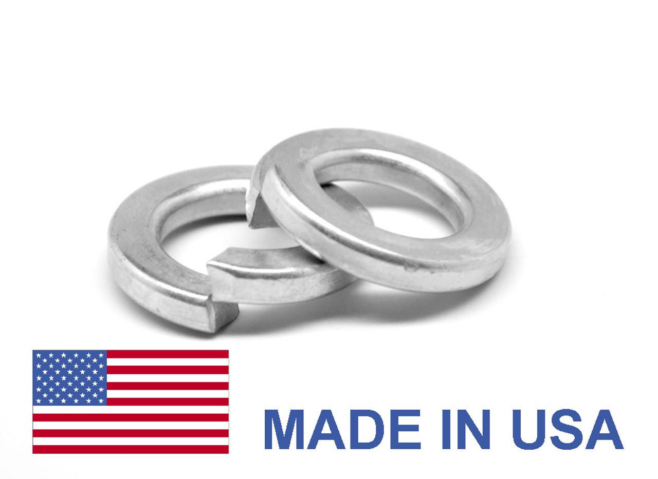 #10 Heavy Split Lockwasher - USA Medium Carbon Steel Mechanical Zinc
