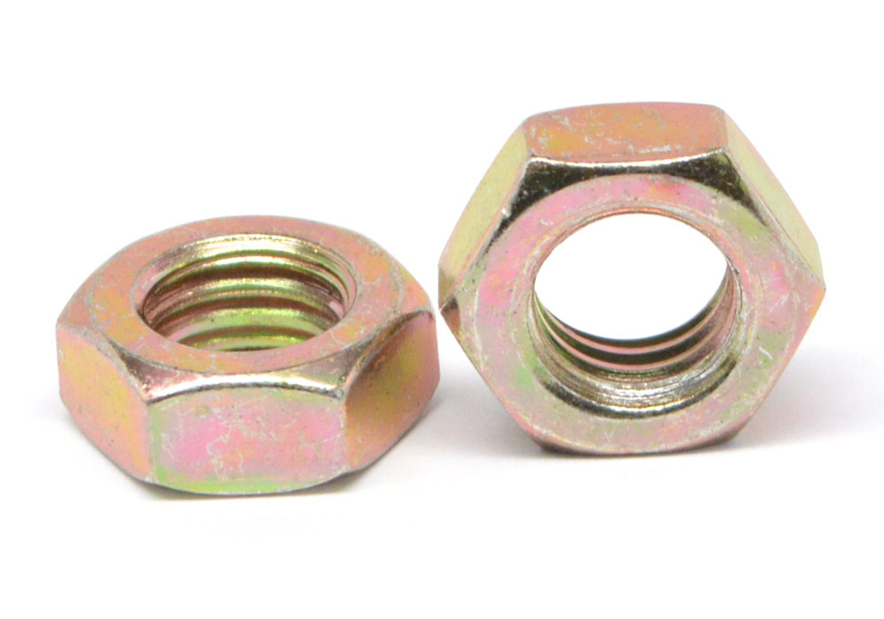 Nylock 3//8-16 Hex Locking Nuts Coarse Yellow Zinc Nylock 400
