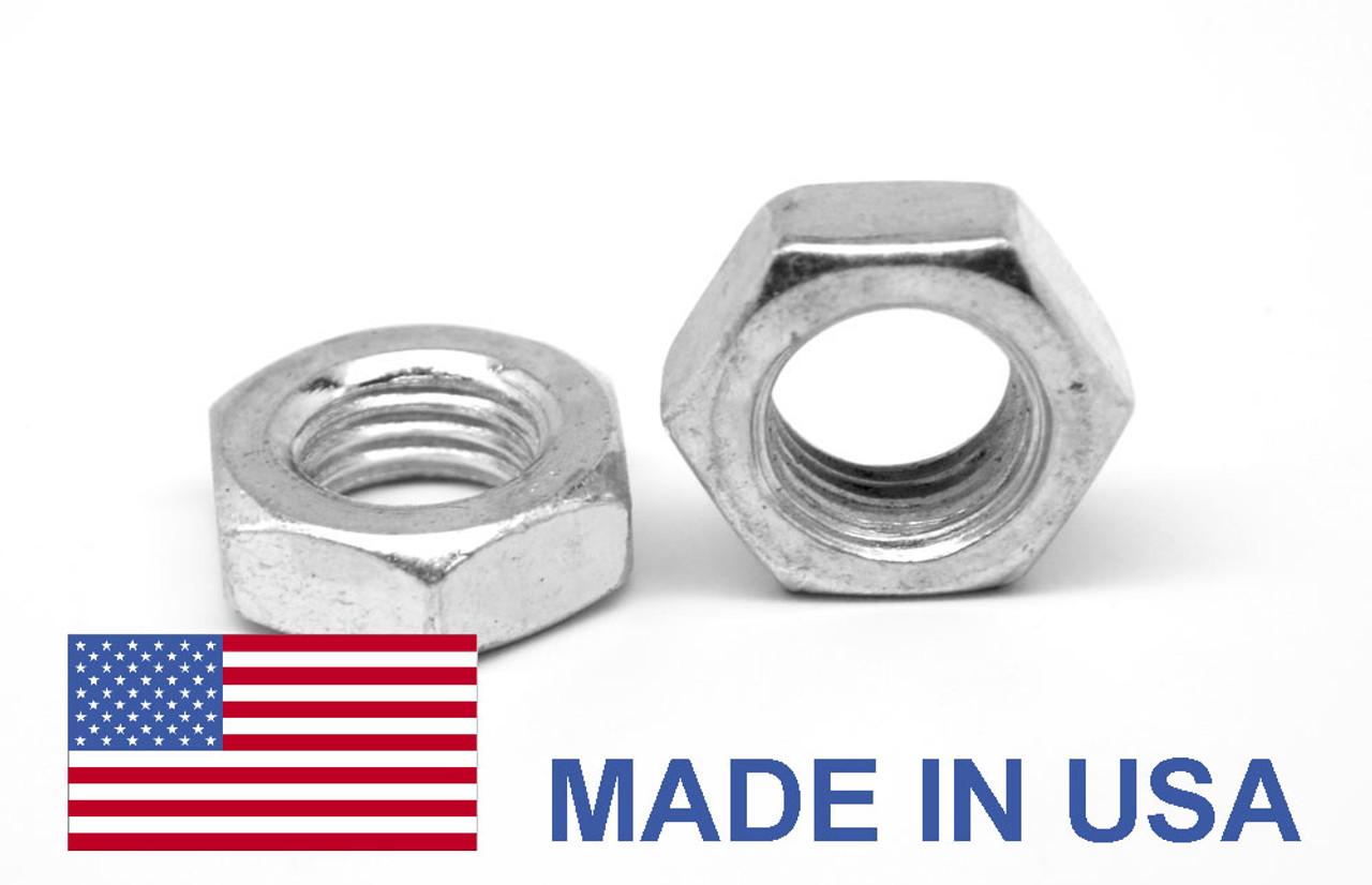 #10-24 Coarse Thread MS35649 Hex Machine Screw Nut - USA Stainless Steel 18-8