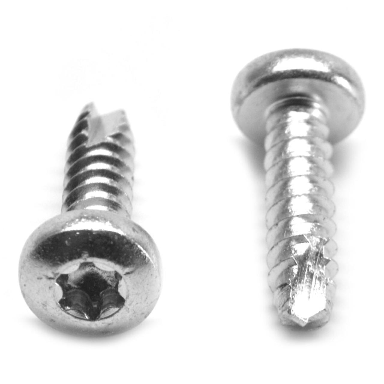 #8-18 x 3/8 Thread Cutting Screw 6 Lobe Pan Head Type 25 Stainless Steel 18-8
