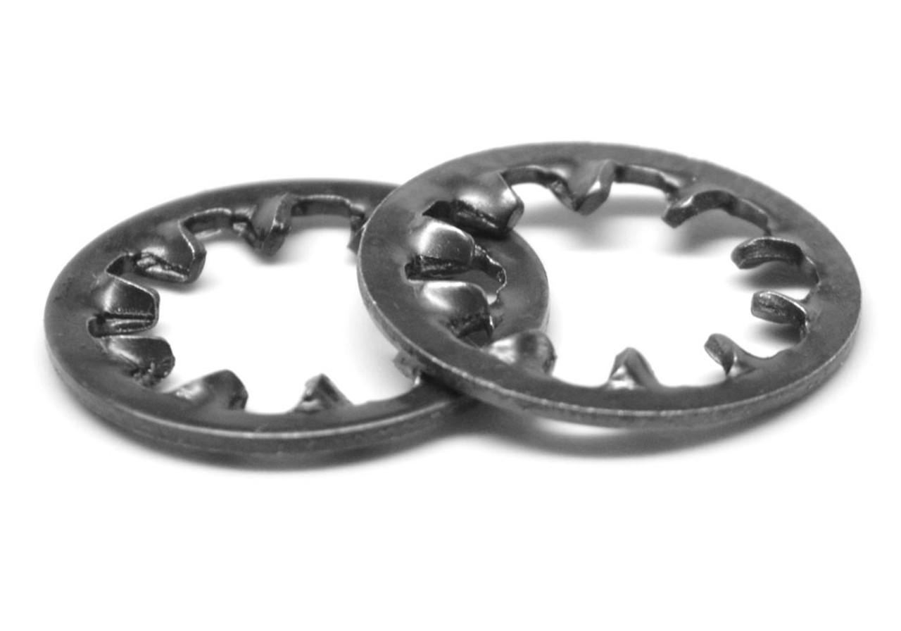 M16 DIN 6797J Internal Tooth Lockwasher Medium Carbon Steel Black Oxide