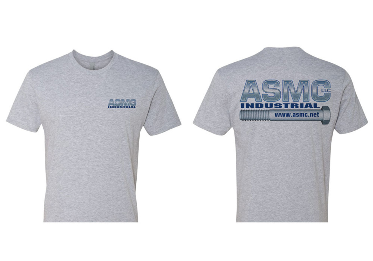 ASMC Logo Tee Heather Gray Size L