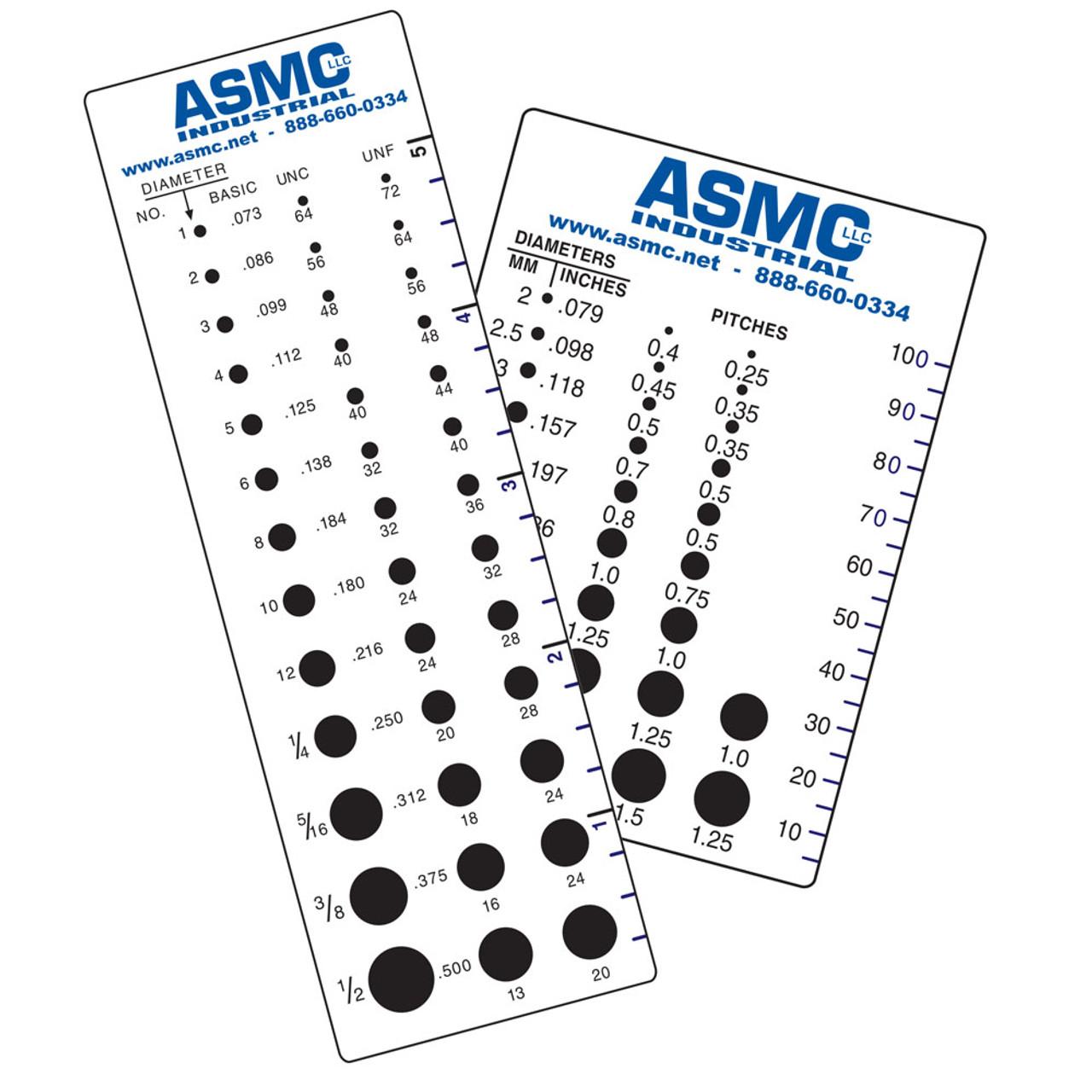 ASMC Logo Inch/Metric Screw Thread Gauge Set