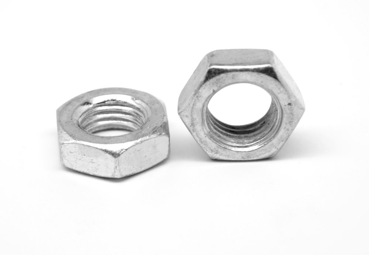 "7/16""-14 Coarse Thread Hex Jam Nut Stainless Steel 18-8"