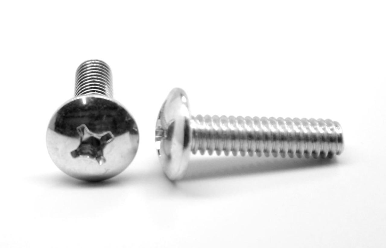 """#2-56 x 1"""" (FT) Coarse Thread Machine Screw Phillips Truss Head Stainless Steel 18-8"""
