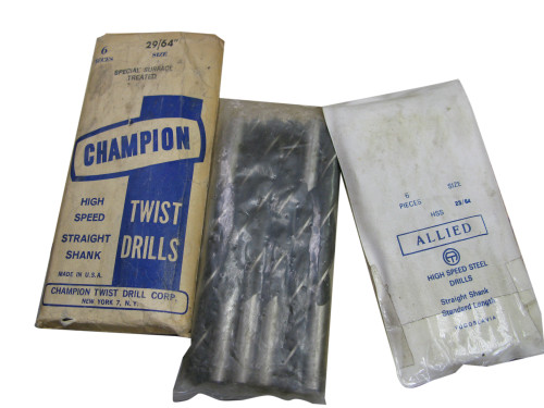 Allied Twist Drill/Drill Bit, HSS, Straight Shank, 15/32 Inch, NOS Italy