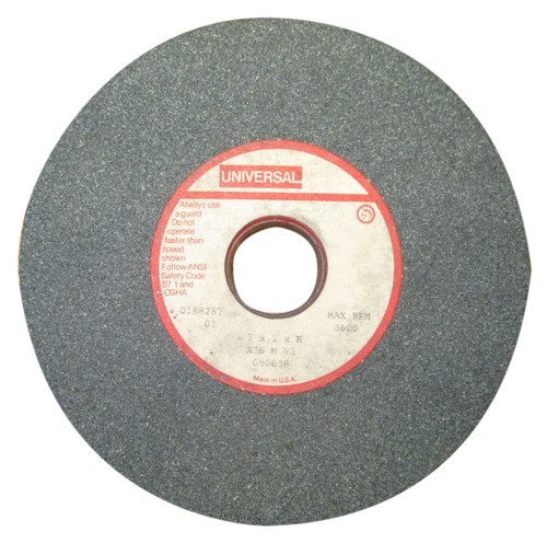 Universal #090638 General Purpose Grinding Wheel, 60 Grit, 7 x 1 x 1 1/4 Inch, NOS USA