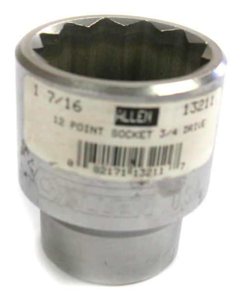 Allen 13204 Socket, Shallow, 12pt, 3/4 Inch Drive, 1 Inch NOS USA