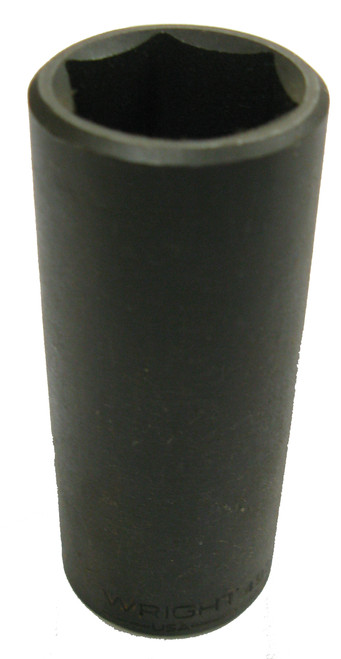 Wright 4914 Impact Socket, Deep, 6pt, 1/2 Inch Drive, 7/16 Inch NOS USA