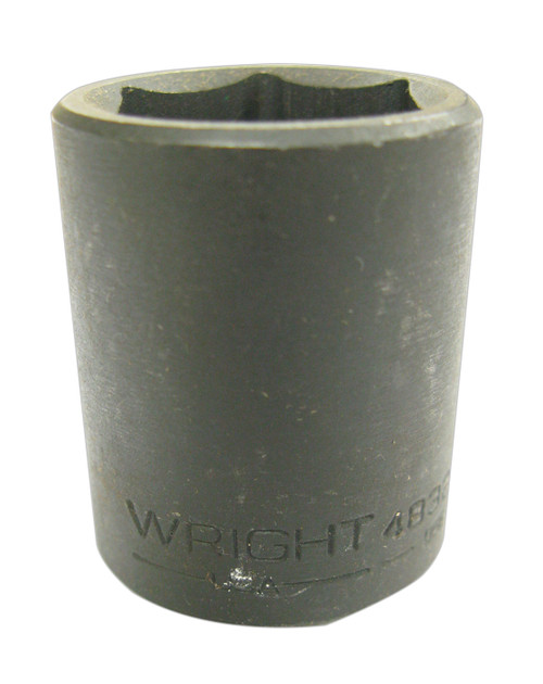 Wright 4814 Impact Socket, Shallow, 6pt, 1/2 Inch Drive, 7/16 Inch NOS USA