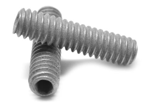 "#6-32 x 3/8"" Coarse Thread Socket Set Screw Cup Point Alloy Steel Mechanical Zinc"