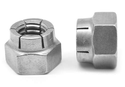 #4-40 Coarse Thread Flexloc Nut Light Hex Full Medium Carbon Steel Plain Finish 20FA-440