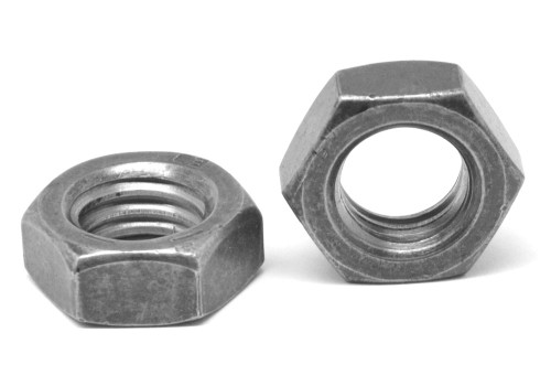 "#10-32 x 11/32"" x 1/8"" Fine Thread Hex Machine Screw Nut Small Pattern Low Carbon Steel Plain Finish"