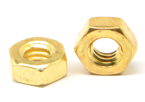 #12-24 Coarse Thread Hex Machine Screw Nut Brass