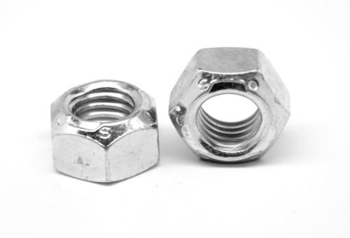 "1/4""-28 Fine Thread Grade C Stover All Metal Locknut Medium Carbon Steel Zinc Plated and Wax"