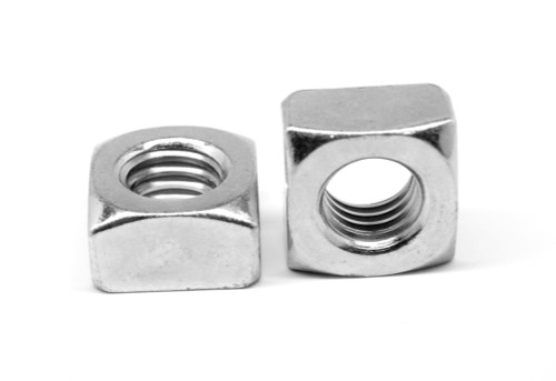 "1/4""-20 Coarse Thread Grade 2 Regular Square Nut Low Carbon Steel Zinc Plated"