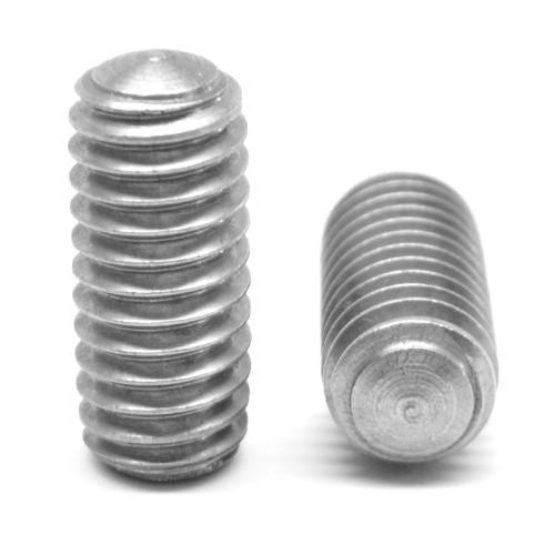 "1/4""-20 x 1"" Coarse Thread Socket Set Screw Oval Point Stainless Steel 18-8"