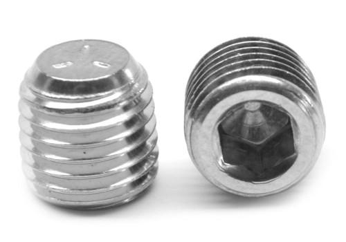 "1/8""-27 NPTF Thread Socket Pipe Plug Dry Seal 3/4"" Taper Stainless Steel 18-8"