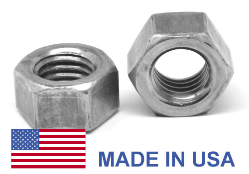 "7/16""-14 Coarse Thread Grade 5 Finished Hex Nut - USA Medium Carbon Steel Plain Finish"