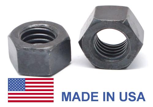 "9/16""-12 Coarse Thread Grade 8 Finished Hex Nut - USA Medium Carbon Steel Plain Finish"