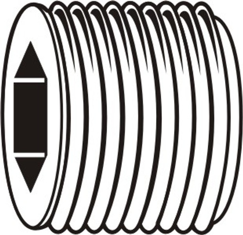 "1/2""-14 x 3/4"" BSP Thread Socket Pipe Plug Alloy Steel"