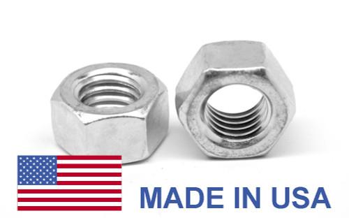 "5/8""-11 Coarse Thread Grade 5 Finished Hex Nut - USA Medium Carbon Steel Zinc Plated"