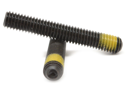 "5/8""-11 x 1 1/4"" Coarse Thread Socket Set Screw Cup Point Nylon Patch Alloy Steel Black Oxide"