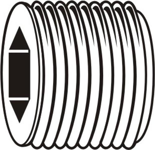 "3/4""-14 x 3/4"" BSP Thread Socket Pipe Plug Alloy Steel"
