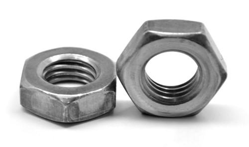 "1 1/8""-7 Coarse Thread A563 Grade A Heavy Hex Jam Nut Low Carbon Steel Plain Finish"