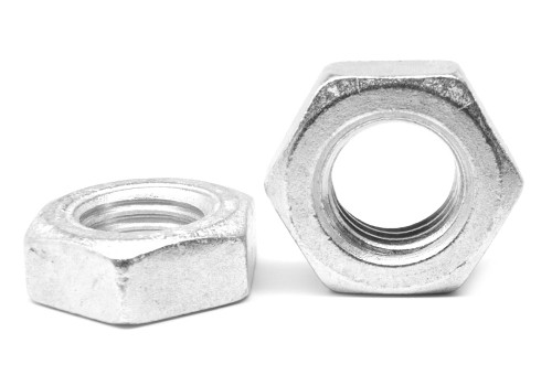 """1 1/8""""-7 Coarse Thread A563 Grade A Heavy Hex Jam Nut Low Carbon Steel Zinc Plated"""