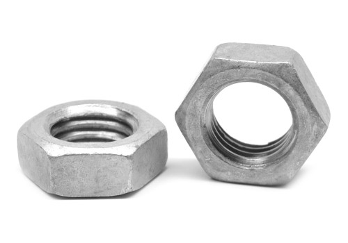 "1 1/4""-7 Coarse Thread Hex Jam Nut Low Carbon Steel Hot Dip Galvanized"