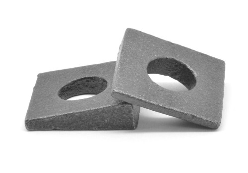 "1 1/8"" Square Beveled Malleable Washer Malleable Iron Plain Finish"