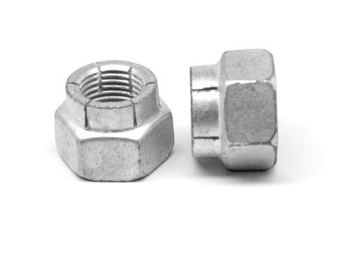 1 1/8-7 Coarse Thread Flexloc Nut Large Diameter Full Medium Carbon Steel CAD Plated 31FN-1807