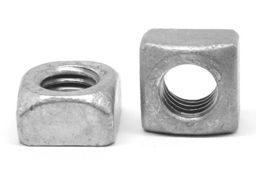 """1 1/8""""-7 Coarse Thread Grade 2 Regular Square Nut Low Carbon Steel Hot Dip Galvanized"""