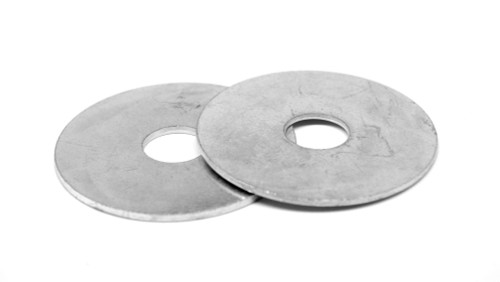 """1/4"""" x 1"""" Fender Washer Low Carbon Steel Zinc Plated"""