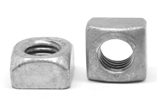 """1 1/2""""-6 Coarse Thread Grade 2 Regular Square Nut Low Carbon Steel Hot Dip Galvanized"""
