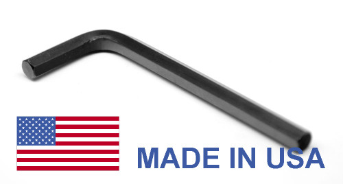 "1 1/8"" Hex Key Short Arm - USA Alloy Steel 8650 Black Oxide"