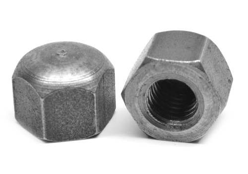 M10 x 1.50 Coarse Thread Cap Nut Low Carbon Steel Plain Finish