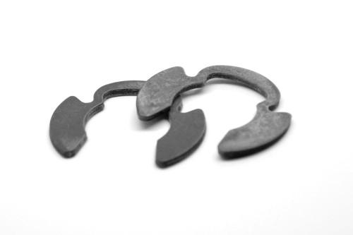 0.560 HD E-Clip (External E-Ring) Heavy Duty / Klip Medium Carbon Steel Black Oxide