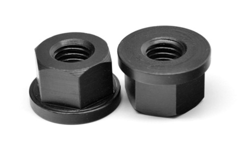 1/2-13 Coarse Thread Heavy Flange Nut Medium Carbon Steel Thermal Black Oxide