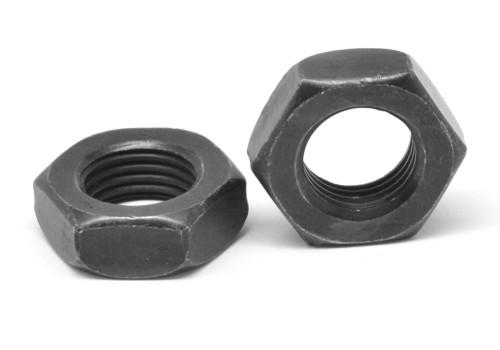 1/2-20 Fine Thread Grade 8 Hex Jam Nut Alloy Steel Thermal Black Oxide