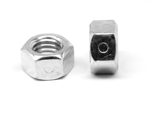 1/2-13 Coarse Thread Reversible 2-Way Nylon Insert Locknut Low Carbon Steel Plain Finish