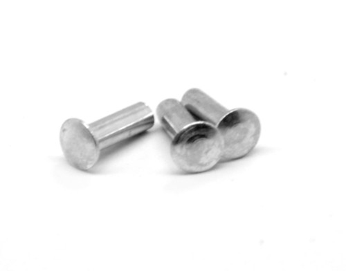 0.089 x 0.094 Semi-Tubular Oval Head Rivet Low Carbon Steel Zinc Plated