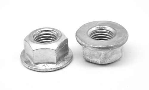 7/16-20 Fine Thread Grade F Stover All Metal Flange Locknut Medium Carbon Steel Zinc Plated