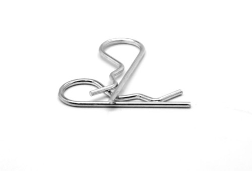 .042 x 1 Hitch Pin Clip / Hairpin Cotter Low Carbon Steel Zinc Plated