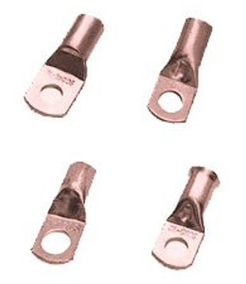 Crimp/Solder Lug, 3/8 Inch Stud, Copper, 4 AWG