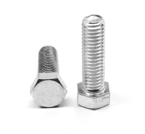 M10 x 1.25 x 60 (FT) Fine Thread DIN 933 Class 8.8 Hex Cap Screw (Bolt) Medium Carbon Steel Zinc Plated