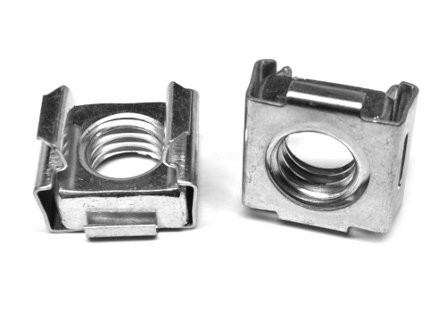 #8-32-3B Coarse Thread Cage Nut Low Carbon Steel Zinc Plated