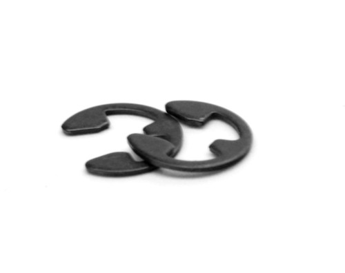 .125 E-Clip (External E-Ring) Medium Carbon Steel Black Phosphate