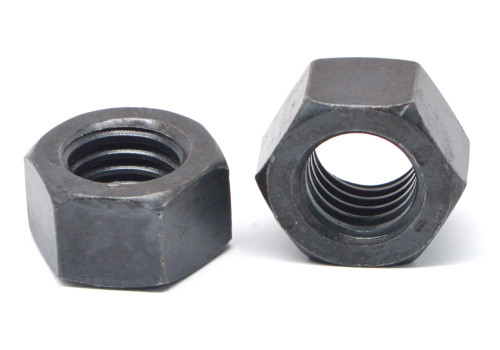 M5 x 0.80 Coarse Thread DIN 934 Finished Hex Nut Stainless Steel 18-8 Black Oxide